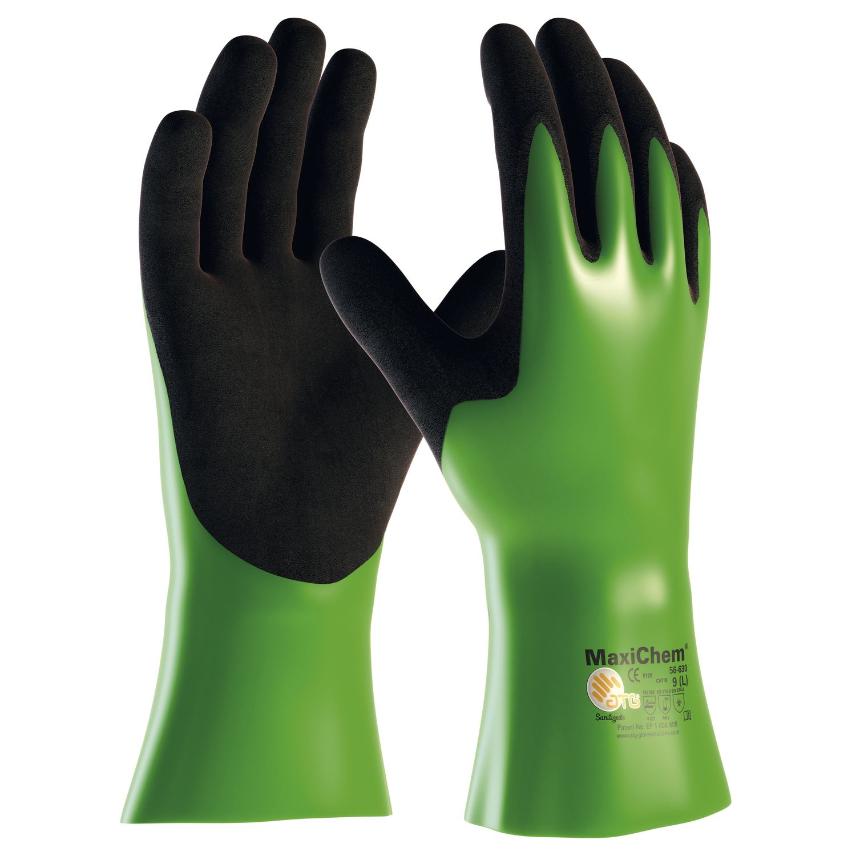 d9056ad3dfe Chemické ochranné rukavice MaxiChem 630 EN 374 vel. 10 kategorie III ...