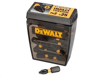 DeWALT DT70555T sada bitů IMPACT TORSION EXTREME, TIC-TAC, Ph2, 25 mm, 25 ks