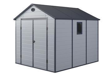 G21 PAH 670 - 241 x 278 cm zahradní domek plastový světle šedý