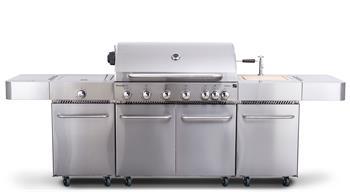 G21 Nevada BBQ kuchyně Premium line plynový gril 7 hořáků + redukční ventil