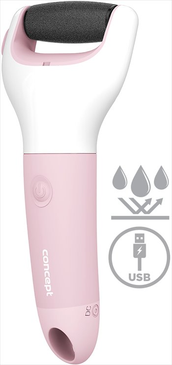 Concept PN1001 Elektrický pilník na paty, růžový