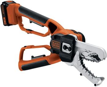 Black&Decker GKC1000L Akumulátorová nůžková prořezávací řetězová pila na větve Alligator 18 V