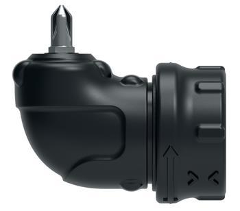 """Black&Decker CSRA1 Pravoúhlý rohový adaptér pro šroubovací bity 1/4"""" pro aku šroubováky 3,6V CS3651L"""