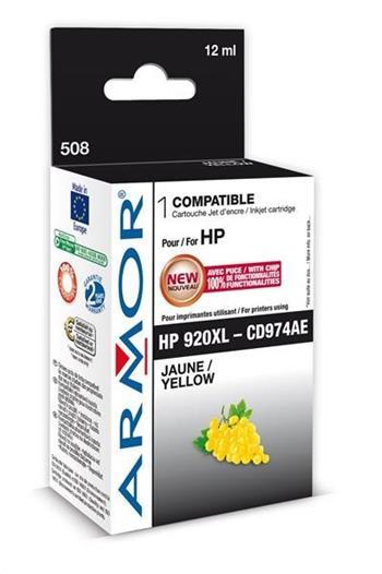 ARMOR cartridge pro HP Officejet 6000, 6500, yellow,12ml.(CD974AE)