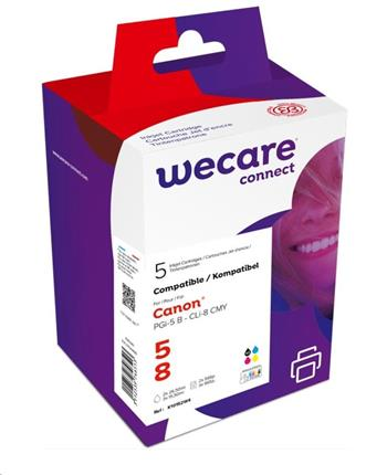 WECARE ARMOR cartridge pro CANON iP 4200/4300, MP500/600 2xB+C+M+Y multipack (PGi5/CLi8CMY) 2x29/3x16ml