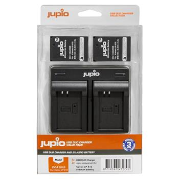 Set Jupio 2x LP-E12 - 875 mAh + Dual Charger pro Canon