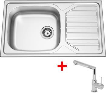 Sinks OKIO 860 XXL V 0,6mm matný + Sinks MIX 350 P lesklá