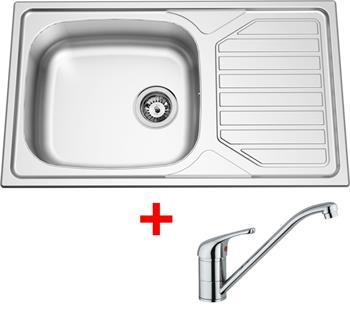 Sinks OKIO 860 XXL V 0,6mm matný + Sinks VENTO 4 lesklá