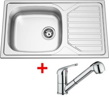 Sinks OKIO 860 XXL V 0,6mm matný + Sinks VENTO 4 S lesklá
