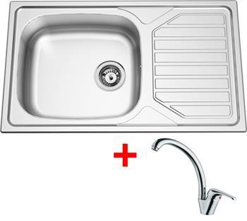 Sinks OKIO 860 XXL V 0,6mm matný + Sinks VENTO 55 lesklá
