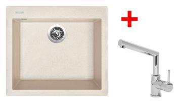 Sinks CUBE 560 Avena + Sinks MIX 350 P lesklá