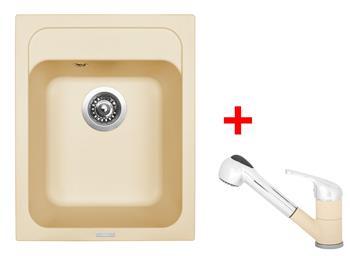 Sinks CLASSIC 400 Sahara + Sinks CAPRI 4 S - 50 Sahara