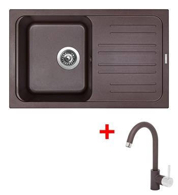 Sinks CLASSIC 740 Marone + Sinks MIX 35 - 93 Marone