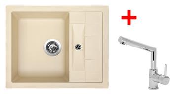 Sinks CRYSTAL 615 Sahara + Sinks MIX 350 P lesklá