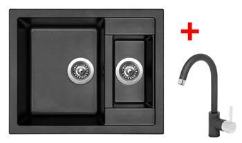 Sinks CRYSTAL 615.1 Metalblack + Sinks MIX 35 - 74 Metalblack