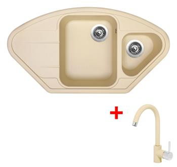 Sinks LOTUS 960.1 Sahara + Sinks MIX 35 - 50 Sahara