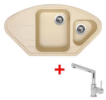 Sinks LOTUS 960.1 Sahara + Sinks MIX 350 P lesklá