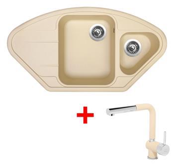 Sinks LOTUS 960.1 Sahara + Sinks MIX 3 P - 50 Sahara
