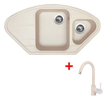 Sinks LOTUS 960.1 Avena + Sinks MIX 35 - 29 Avena