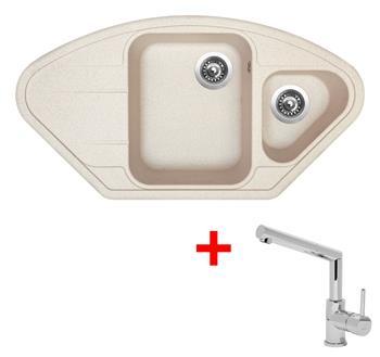 Sinks LOTUS 960.1 Avena + Sinks MIX 350 P lesklá