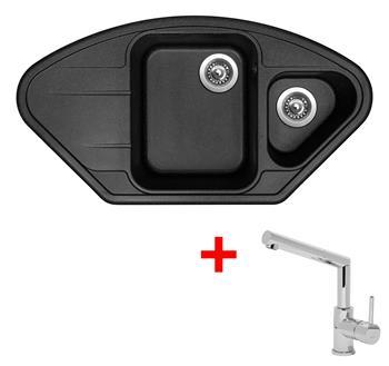 Sinks LOTUS 960.1 Granblack + Sinks MIX 350 P lesklá
