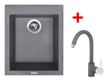 Sinks CUBE 410 Titanium + Sinks MIX 35 - 72 Titanium