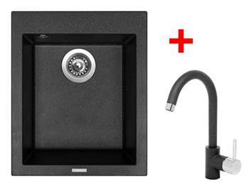 Sinks CUBE 410 Granblack + Sinks MIX 35 - 30 Granblack