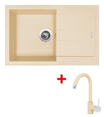 Sinks AMANDA 780 Sahara + Sinks MIX 35 - 50 Sahara