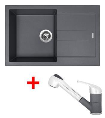 Sinks AMANDA 780 Titanium + Sinks CAPRI 4 S - 72 Titanium