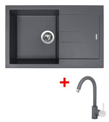 Sinks AMANDA 780 Titanium + Sinks MIX 35 - 72 Titanium