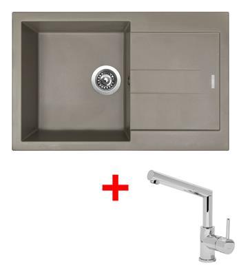 Sinks AMANDA 780 Truffle + Sinks MIX 350 P lesklá