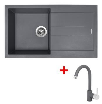 Sinks AMANDA 860 Titanium + Sinks MIX 35 - 72 Titanium