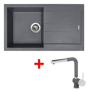 Sinks AMANDA 860 Titanium + Sinks MIX 3 P - 72 Titanium