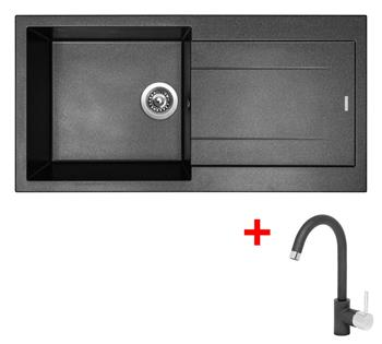 Sinks AMANDA 990 Metalblack + Sinks MIX 35 - 74 Metalblack