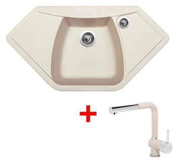 Sinks NAIKY 980 Avena + Sinks MIX 3 P - 29 Avena