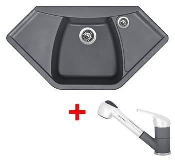 Sinks NAIKY 980 Titanium + Sinks CAPRI 4 S - 72 Titanium