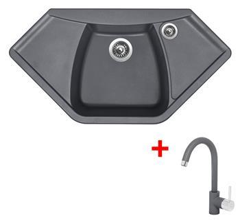Sinks NAIKY 980 Titanium + Sinks MIX 35 - 72 Titanium