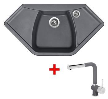 Sinks NAIKY 980 Titanium + Sinks MIX 3 P - 72 Titanium