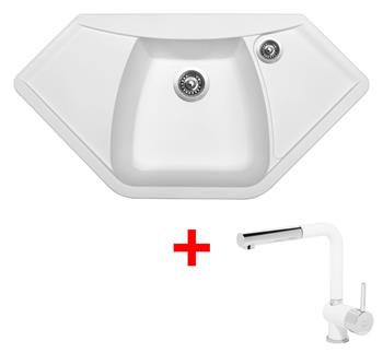 Sinks NAIKY 980 Milk + Sinks MIX 3 P - 28 Milk