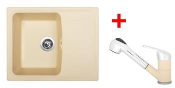 Sinks FORMA 610 Sahara + Sinks CAPRI 4 S - 50 Sahara