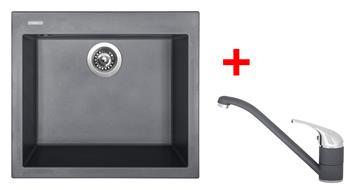 Sinks CUBE 560 Titanium + Sinks CAPRI 4 - 72 Titanium
