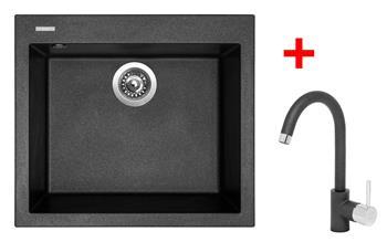 Sinks CUBE 560 Metalblack + Sinks MIX 35 - 74 Metalblack