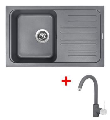 Sinks CLASSIC 740 Titanium + Sinks MIX 35 - 72 Titanium