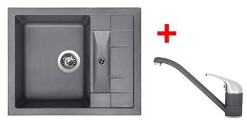 Sinks CRYSTAL 615 Titanium + Sinks CAPRI 4 - 72 Titanium