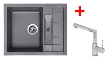 Sinks CRYSTAL 615 Titanium + Sinks MIX 350 P lesklá