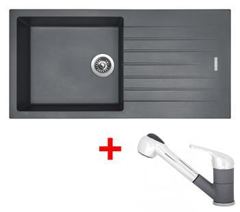 Sinks PERFECTO 1000 Titanium + Sinks CAPRI 4 S - 72 Titanium