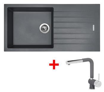 Sinks PERFECTO 1000 Titanium + Sinks MIX 3 P - 72 Titanium