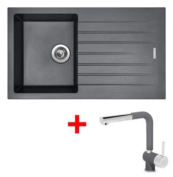 Sinks PERFECTO 860 Titanium + Sinks MIX 3 P - 72 Titanium