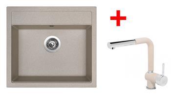 Sinks SOLO 560 Avena + Sinks MIX 3 P - 29 Avena