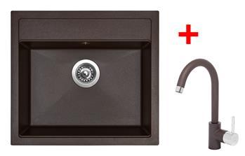 Sinks SOLO 560 Marone + Sinks MIX 35 - 93 Marone